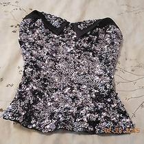 Bebe Sequin Top Xxs Photo