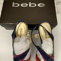 Bebe Shoes Pumps Tri-Colors High Heels Size 9 With Box  Stilettos Sexy Photo