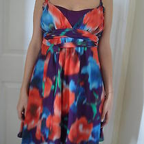 Bebe Silk Dress Size M Photo