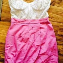 Bebe Size 6 Pink and White Dress Photo