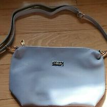 Bebe Small Crossover Purse Baby Blue Zip Up Bag Tote New Blue Photo