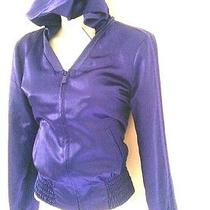 Bebe Smocked Charm Purple Hoodie Nwt 69 Great Trendy Look Photo