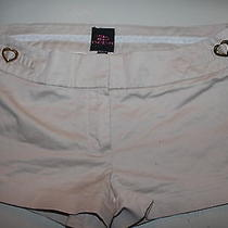 Bebe Solid Beige Shorts Size 6 Photo