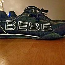 Bebe Sport Logo Destiny Black & White Womens Athletic Walking Shoes Size 8.5   Photo
