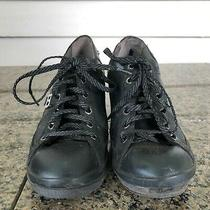 Bebe Sport Sz 8 Black Lace Up Wedged Sneakers Women's Shoes Photo