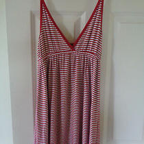 Bebe Sport Tank Top Loose Fitting  Red & White Stripe  Size Small  Super Cute Photo