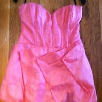 Bebe Strapless Corset Dress. Size S. Salmoln Pink Photo