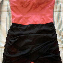 Bebe Strapless Dress. Size Medium. Pink and Black. Worn a Few Times. Photo