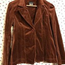 Bebe Stretch Jacket Blazer Soft Corduroy Brown Cognac Sz S Nwot Photo