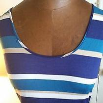 Bebe Striped Maxi Dress Size M Photo