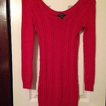 Bebe Sweater Dress Red  Photo