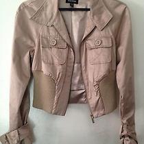 Bebe Tan Bomber Jacket Size Small Photo