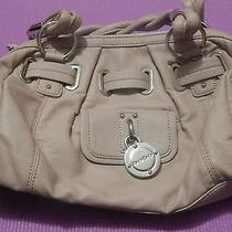 Bebe Tan Leather Evening Bag Style Purse Photo