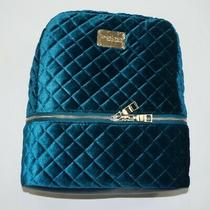 Bebe Teal Danielle Velvet Quilted Large Backpack Photo
