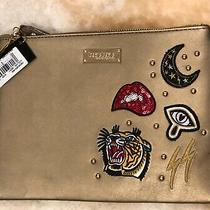 Bebe Tiger Moon Lightning Patch Gold Purse Photo