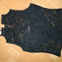 Bebe Top /bebe Black Lace Top/black Lace Bebe Top Photo