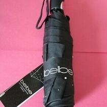 Bebe Umbrella Black Rhinestone Auto Open - Brand New W/tags Photo