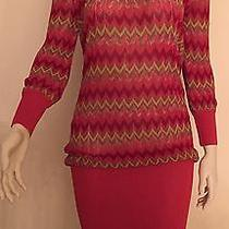 Bebe Unique Rare Chevron Drop Waist Semi Sheer Sweater Dress Small S Photo