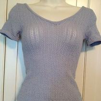 Bebe Vintage Knit Top Size S v Neck v Back Photo
