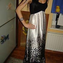 Bebe Vintage Maxi Dress Leopard Print Bandage Size S Photo