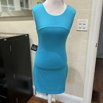 Bebe Vneck Cutout Short Turquoise Dress Size M Nwt Photo