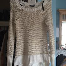 Bebe White and Gold Sweater Photo
