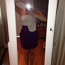 Bebe White Purple Dress Small Photo