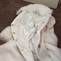 Bebe White Winter Coat Photo