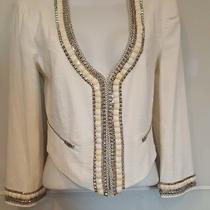 Bebe Woman's Designer White Blazer Jacket Size S Photo