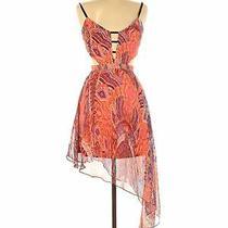 Bebe Women Orange Casual Dress Xs Photo