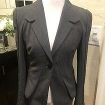 Bebe Women's Gray Long Sleeved Blazer With Detailed Button Closer Size M Photo