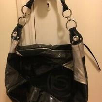 Bebe - Women's Large Shoulder Bag - Black & Silver (Pre-Owned) Photo