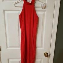 Bebe Women's Red Sleeveless Dress With Cut Out Back Size M Poly/spandex Photo