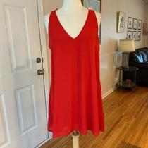 Bebe Women's Red v Neck Shift Dress Sz Xs Photo