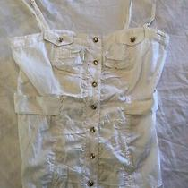 Bebe Womens White Corset Top Size Small Photo