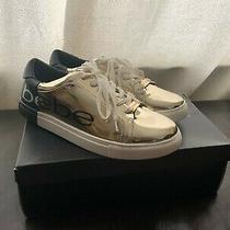 Bebe Womens Charley Gold/black Fashion Sneaker Size 8.5 Photo