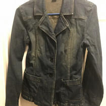 Bebe Womens Denim Blazer Jacket  Size S Photo
