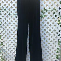 Bebe Womens High-Waist Velvet Pants Jet Black Size Small Nwt Photo