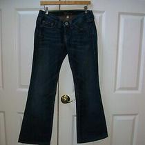 Bebe Womens Jeans 28w Tag  X 29l Rhinestone Embellished Bling Rear Blue Denim  Photo
