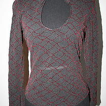 Bebe Womens Nylon See Through Blouse Sz L Photo