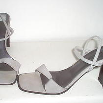 Bebe Womens Silver Strappy Sandals Shoes 8.5 B Photo