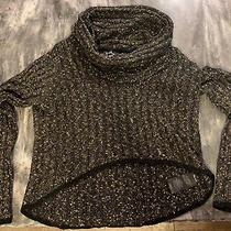 Bebe Xs Sweater Blackish W/gold Flakes Photo