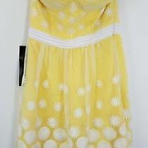 Bebe Yellow Daisy Dress Sz 2 Nwt Photo