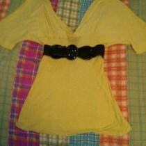 Bebe Yellow Summer Blouse Photo
