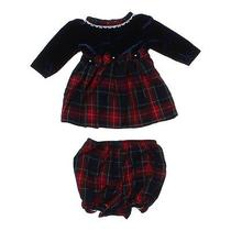 Bebes Holiday Dress and Bloomers Size 3 Mo Photo