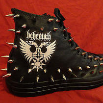 Behemoth Metal Rock Custom Studded Converse Chuck Shirt Shoes Sneakers W Spikes Photo