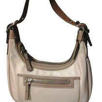 Beige and Brown Coach Bag Photo