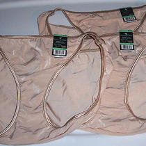 Beige Bikini Vanity Fair Body Shine Illumination 18108 3 Panty Set Size 8 Xl Photo