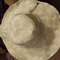 Beige Coach Floppy Beach Hat Small Photo