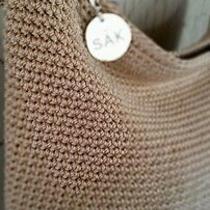 Beige Crochet the Sak Bag Photo
